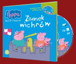 Świnka Peppa Bajeczki z Książeczki 1 Zamek Wichrów - książka z płytą DVD