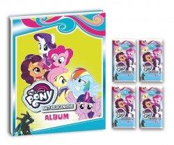 Mój kucyk My Little Pony Karty kolekcjonerskie Album + 4 saszetki