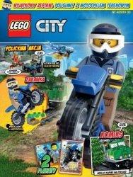 LEGO City magazyn 4/2018 + policjant z motocyklem terenowym