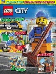 LEGO City magazyn 5/2018 + śmieciarz z taczką i konteneremi