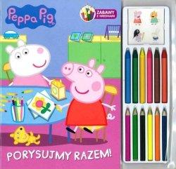 Świnka Peppa Zabawy z kredkami 1 Porysujmy razem!