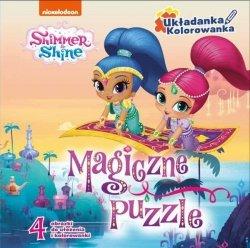 Shimmer i Shine Układanka Kolorowanka Magiczne puzzle