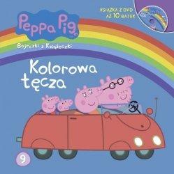 Świnka Peppa Bajeczki z Książeczki 9 Kolorowa tęcza + DVD