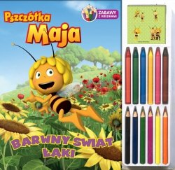 Pszczółka Maja Zabawy z kredkami 1 Barwny świat łąki