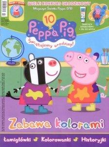 Świnka Peppa magazyn 5/2018 Zabawa kolorami + świecąca opaska Peppy + kosmetyk dla dzieci