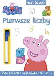 Świnka Peppa Pisz i ścieraj! 4 Pierwsze liczby