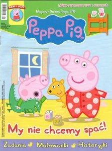 Świnka Peppa magazyn 8/2015 My nie chcemy spać + ŁÓŻKO