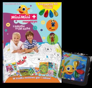 MiniMini+ magazyn Wydanie specjalne 2/2016 kolorowanka podłogowa z kredkami Rybka