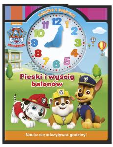 Psi Patrol Książka z zegarem Pieski i wyścig balonów