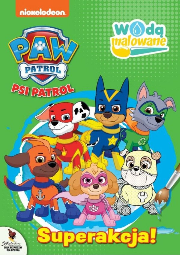 Psi Patrol Wodą malowane 6 Superakcja!