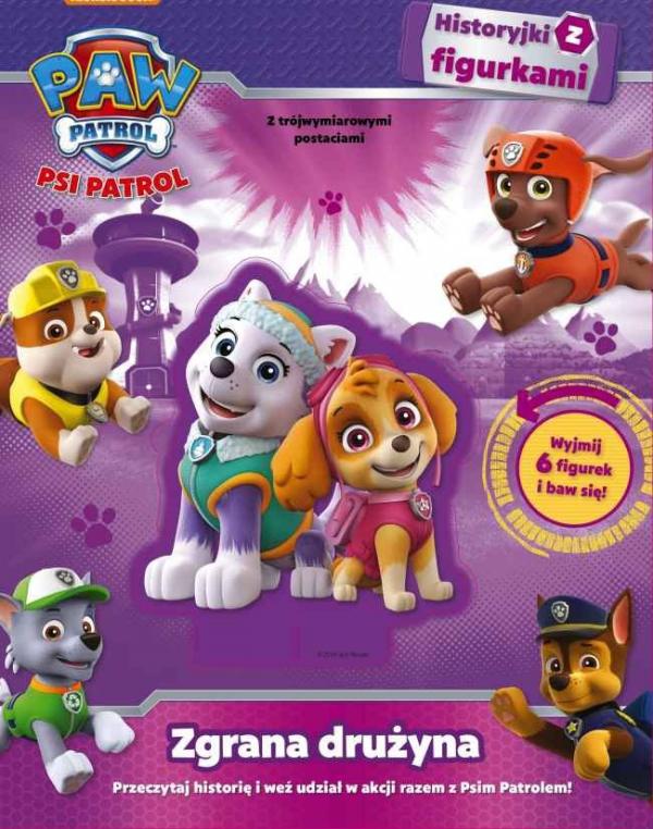 Psi Patrol Historyjki z figurkami Zgrana drużyna