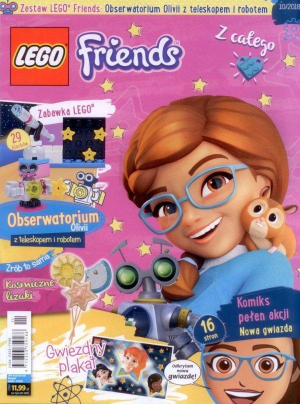 LEGO Friends magazyn 10/2018 + Obserwatorium Olivii z teleskopem i robotem