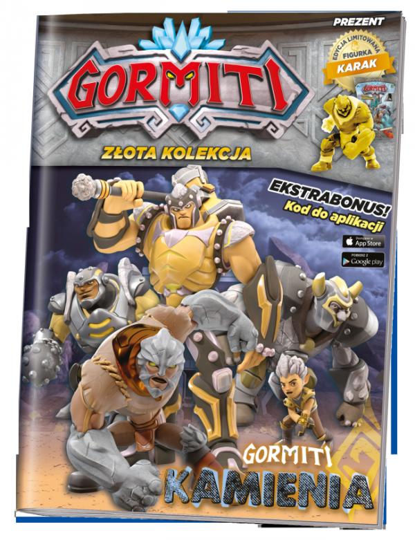 Gormiti Złota kolekcja 3 Gormiti Kamienia