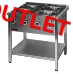 OUTLET | Kuchnia gazowa na podstawie otwartej 4-palnikowa  800x700x850 mm KROMET 000.KG-4M 000.KG-4M
