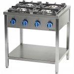 Kuchnia gazowa wolnostojąca 900 - 4 palnikowa z półką 36kW - G20 (GZ50)
