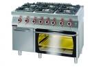 Kuchnia gazowa z piekarnikiem gazowym  1200x700x900 mm KROMET 700.KG-6/PG-2/SD 700.KG-6/PG-2/SD