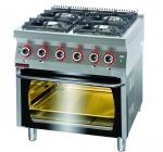 Kuchnia gazowa  z piekarnikiem elektrycznym  800x700x900 mm KROMET 700.KG-4/PE-2 700.KG-4/PE-2
