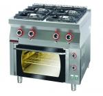 Kuchnia gazowa z piekarnikiem gazowym  800x700x900 mm KROMET 700.KG-4/PG-2 700.KG-4/PG-2