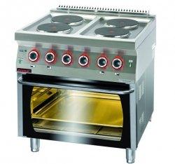 Kuchnia elektryczna z piekarnikiem elektrycznym  800x700x900 mm KROMET 700.KE-4/PE-2* 700.KE-4/PE-2*