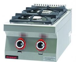 Kuchnia gazowa /2 palniki/  400x700x280 mm KROMET 700.KG-2 700.KG-2