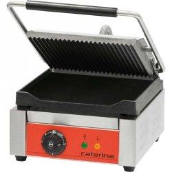 Kontakt grill pojedynczy ryflowany/gładki z powłoką polimerową STALGAST 742017  Caterina