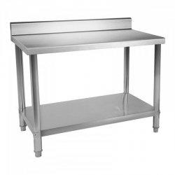 Stół roboczy - stal nierdzewna - 100 x 70 cm - 95 kg - rant ROYAL CATERING 10011598 RCWT-100X70EB