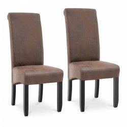 Krzesło tapicerowane - brązowe - ekoskóra - 2 szt. FROMM & STARCK 10260165 STAR_CON_50