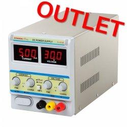 OUTLET   Zasilacz laboratoryjny - 0-30 V - 0-5 A DC STAMOS 10021001 S-LS-8
