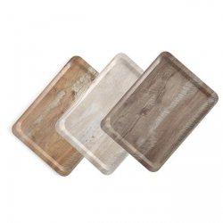 Taca do serwowania z nadrukiem drewna - jasny dąb HENDI 508909 508909