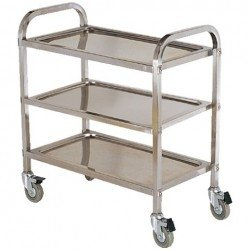 Wózek kelnerski 3-półkowy (skręcany) ze stali nierdzewnej INVEST HORECA RP3-2 RP3-2