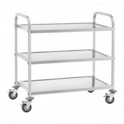 Wózek kelnerski - 3 półki - 150 kg ROYAL CATERING 10010424 RCSW 3A