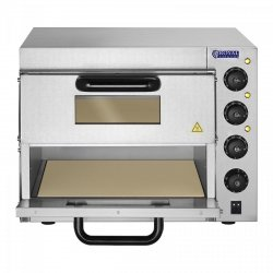 Piec do pizzy - 3000 W - 2 komory - Ø 40 cm ROYAL CATERING 10010832 RCPO-3000-2PS-1