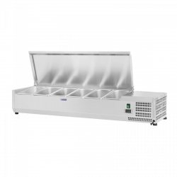 Nadstawa chłodnicza - 6 x GN 1/4 - 140 x 33 cm ROYAL CATERING 10010940 RCKV-140/33-6S