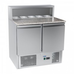 Stół chłodniczy do pizzy - 90 x 70 cm - granit ROYAL CATERING 10010450 RCKT-90/70-G