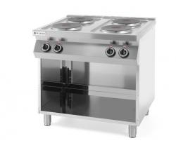 Kuchnia elektryczna 4-płytowa Kitchen Line na podstawie otwartej HENDI 226223 226223