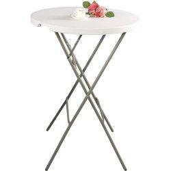 Stół cateringowy barowy składany okrągłu fi 800x1100 STALGAST 950141 950141