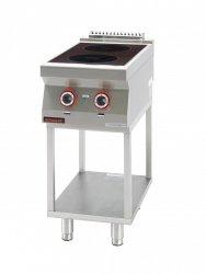 Kuchnia indukcyjna 2x3,5kW na podstawie szkieletowej  KROMET 700.KE-2i/400.T LINIA 700