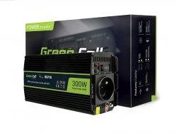 Samochodowa Przetwornica Napięcia Green Cell   24V do 230V, 500W/1000W INV04DE