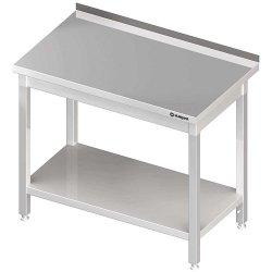 Stół przyścienny z półką 1400x600x850 mm skręcany STALGAST 611346 611346