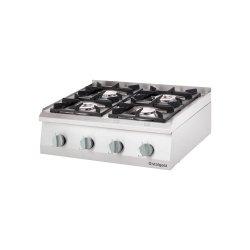 Kuchnia nastawna gazowa 4 palnikowa 800x700 20,5kW - G30 STALGAST 9706130 9706130