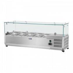 Nadstawa chłodnicza - 120 x 33 cm - 5 x GN 1/4 - szklana osłona