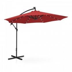 Parasol ogrodowy wiszący - Ø300 cm - czerwony - LED UNIPRODO 10250085 UNI_UMBRELLA_R300REL