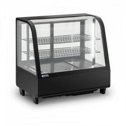 Witryna chłodnicza - 100 l - czarna ROYAL CATERING 10011910 RCCC-100-B
