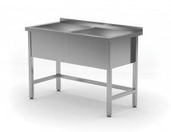Stół z basenem dwukomorowym - wysokość komory h = 300 mm 1300 x 600 x 850/300 mm POLGAST 206136/3 206136/3