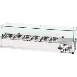 Witryna chłodnicza nastawna 6xGN 1/4 1400x335x435 mm z szybą STALGAST 844641 844641
