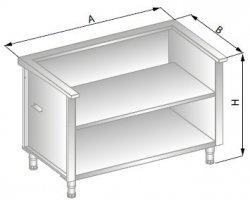 Stanowisko szafkowe pod urządzenia zewnętrzne 1550x705x900 ERIK DM-94515-E