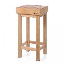 Kloc masarski drewniany na podstawie drewnianej HENDI 505618 505618