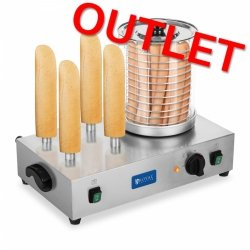 OUTLET | Podgrzewacz do hot dogów 4 bolce - 2 x 300W ROYAL CATERING 10010161 RCHW-2300