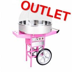 OUTLET | Maszyna do waty cukrowej - 72 cm - wózek - pokrywa ROYAL CATERING 10010133 RCZC-1200XL