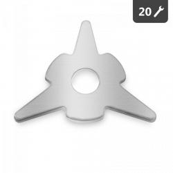 Podkładki trójkątne - zestaw - 20 szt. MSW 10060326 MSW-DRS45